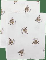 Libštátské pleny Detská bavlnená plienka / osuška, 90x100 cm, potlač, 2 ks, Medvedík v ružovom