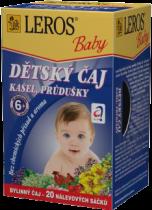 LEROS BABY detský čaj na kašel a priedušky 20x1,5g
