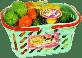 MAC TOYS Ovoce a zelenina v košíku