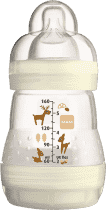 MAM Butelka antykolkowa 160ml, 0mies.+ – biała