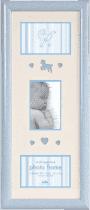 FOTORÁMIK modrý Baby Brights pre 3 fotografie 10x15 cm