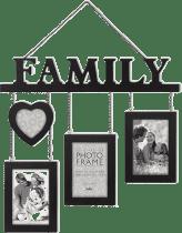 FOTORAMKA czarny Madeira FAMILY na 4 fotografie