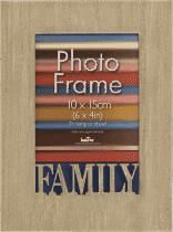 FOTORÁMEČEK s nápisem Family pro fotografii 10x15 cm