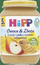 HIPP Gruszki i jabłka z kleikiem orkiszowym BIO (190g)