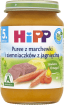 HIPP Puree z marchewki i ziemniaczków z jagnięciną BIO (190g)