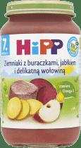 HIPP Ziemniaki z buraczkami, jabłkiem i delikatną wołowiną BIO (220g)