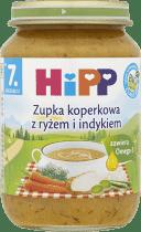 HIPP Zupka koperkowa z ryżem i indykiem BIO (190g)