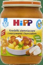 HIPP Knedelki ziemniaczane z warzywami i kurczakiem BIO (250g)