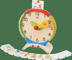 PLAN TOYS Drewniany zegar edukacyjny
