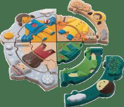 PLAN TOYS Puzzle - Obliekanie podľa počasia