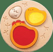 PLAN TOYS Puzzle - Životní cyklus kuřete