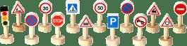 PLAN TOYS Sada dopravných značiek a svetiel