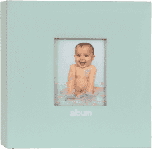FOTOALBUM modré Love Baby s popiskami pro 200 fotografií 10x15 cm