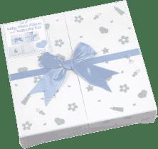 FOTOALBUM modrý Baby Nursery pre 200 fotografií 10x15 cm (darčekové balenie)