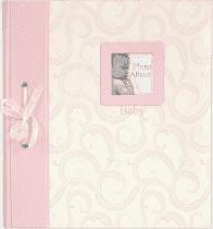 FOTOALBUM różowy BABY Traditional – album z wklejanymi rogami