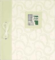 FOTOALBUM zielony BABY Traditional – album z wklejanymi rogami