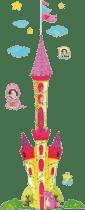 KARPEX Detský meter na stenu Zámok - samolepiaca dekorácia na stenu s 3D efektami (meter)