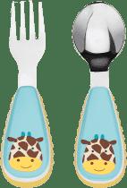 SKIP HOP Zoo lžička+vidlička - Žirafa