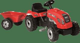SIMBA Šliapací traktor GM Bull s vlečkou červený