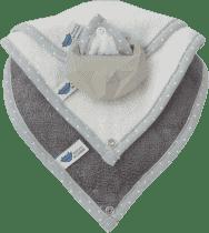LULLALOVE SuperRRO baby hevea zestaw błękit + krémové + szary