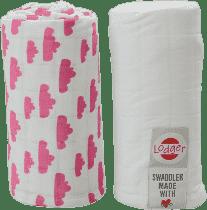 LODGER Multifunkční osuška Swaddler balení 2ks – Rosa/White