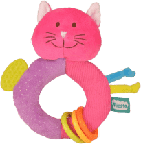 FIESTA CRAFTS Chrastítko s kousátkem - Kočička