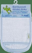 T-TOMI Koupací žínky-rukavice, 2 kusy, modro bílá