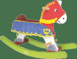 VILAC Drewniany koń na biegunach dla rycerza