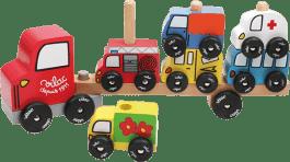 VILAC Drevená hračka - Drevené motorické auto - nasadzovanie