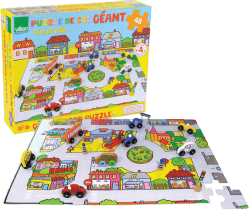 VILAC Drevená hračka - Drevené puzzle doprava v meste
