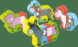 VILAC Dřevěná hračka - Dřevěné puzzle - Veselá farma