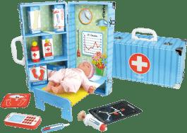 VILAC Drevené hračky - Zdravotnícky set v kufríku