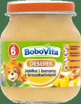 BOBOVITA Jabłka i banany z brzoskwiniami (125g)