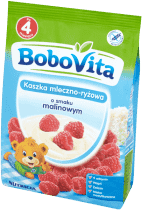 BOBOVITA Kaszka mleczno-ryżowa o smaku malinowym (230g)