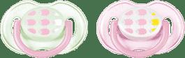 AVENT smoczek uspokajający, silikonowy, 0-6 miesięcy, 2 szt. Owieczki