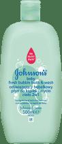JOHNSON'S BABY Odświeżający bąbelkowy płyn do kąpieli i mycia ciała 2w1 500ml