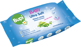 BUPI Ultrasoft vlhčené obrúsky 64 ks