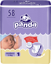 BELLA PANDA Newborn 58ks (2-5 kg) - jednorázové plienky
