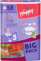 Bella HAPPY Junior (12-25 kg) Big Pack 58 szt. - pieluszki jednorazowe