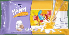 BELLA HAPPY BABY Chusteczki nawilżane mleko i miód 64 szt.