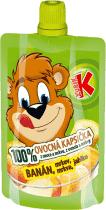 KUBÍK 100% Ovocná Kapsička banán, mrkev, jablko