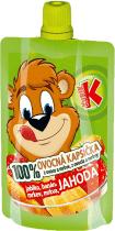 KUBÍK 100% Ovocná Kapsička jahoda, banán, mrkva, jablko