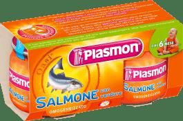 PLASMON Příkrm losos se zeleninou (2x80g)