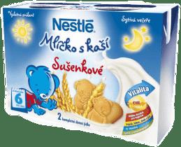 NESTLÉ sušenkové mlíčko s kaší (2x200 ml)