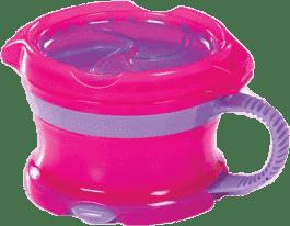 MUNCHKIN Click Lock fioletowo-różowy pojemnik na przekąski