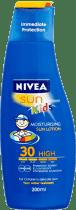 NIVEA Sun Pure&Sensitive mleczko do opalania dla dzieci OF 30, 200ml
