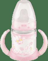 NUK Butelka First Choice do nauki picia 150 ml, różowa, lateksowy smoczek