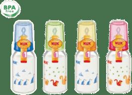NUK Butelka szklana 125Ml (smoczek sil. Rozm. 1M)