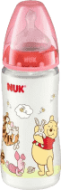 NUK FC+ Butelka Disney (silikon) 300 ml – czerwona