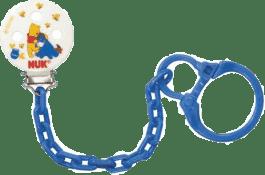 NUK Łańcuszek do smoczka niebieski Disney - Kubuś Puchatek